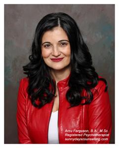 Arzu Ferguson Registered, Psychotherapist, sunnydayscounselling.com